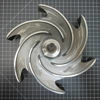 Hastelloy C Impeller to fit Goulds 3196 MT/MTX/MTI, 3996 MT, and 3796 MT 4x6-10