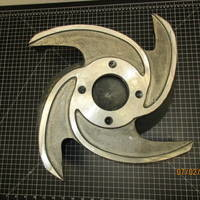 Image of this particular 316SS Impeller 2/4V  to fit Goulds 3135 6x12-16
