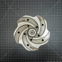 Image of this particular 316SS Impeller to fit Goulds 3196 LTX 2x3-13