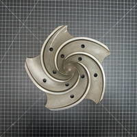 Image of this particular 316SS Impeller to fit Goulds 3196 MTX 1.5x3-13