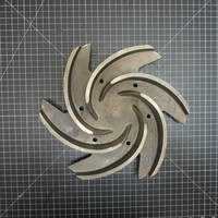 Image of this particular 316SS Impeller to fit Goulds 3196 MT/MTX/MTi and 3996 MT 3x4-13